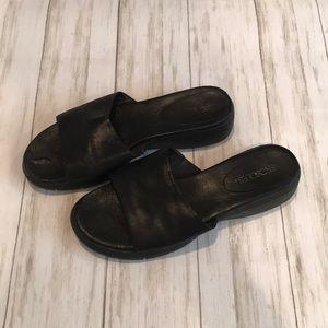 Black Aerosol slip on sandals